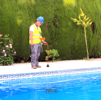 Detección fugas de agua en piscinas